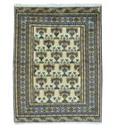 One-of-a-Kind Graybill Vintage Overdyed Shiraz Hand-Knotted Ivory Area Rug