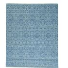 Tone On Tone Geometric Agra Oriental Hand-Knotted Gray Area Rug