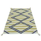 One-of-a-Kind Denning Striped Flat Weave Hand-Knotted Beige Area Rug