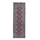 Bokara Jaldar Hand-Knotted Red/Gray Area Rug