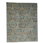 One-of-a-Kind Granillo Overdyed Bibikabad Worn Hand-Knotted Gray Area Rug