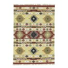 Anatolian Durie Kilim Flat Weave Hand-Knotted Green/Yellow/Red Area Rug