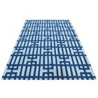 Flat Weave Reversible Kilim Hand-Knotted Navy Blue Area Rug