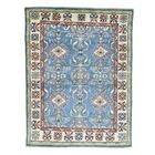 One-of-a-Kind Kempinski Overdyed Hussainabad Vintage Hand-Knotted Sky Blue/Brown Area Rug