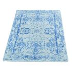 One-of-a-Kind Ebeling Broken Oriental Hand-Knotted Silk Area Rug