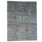 One-of-a-Kind Crafts Hand-Knotted Taupe Area Rug