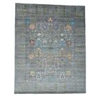 Crafts Hand-Knotted Gray Area Rug