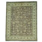 Mahal Ziegler Chocolate Brown Hand-Knotted Brown Area Rug