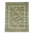 Khotan Hand-Knotted Taupe Area Rug