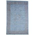 One-of-a-Kind Greenough Hand-Knotted Sky Blue Area Rug