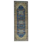 One-of-a-Kind Griego Natural Dyes Hand-Knotted Blue Area Rug