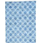 Flat Weave Kilim Hand-Knotted Blue Area Rug