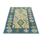 One-of-a-Kind Bakerstown Kilim Hand-Woven Blue/Gray Area Rug