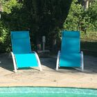 Kelston Mills Elegant Reclining Adjustable Chaise Lounge Color: Blue