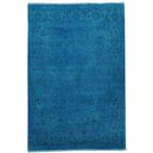 One-of-a-Kind Estella Overdyed Hand-Knotted Blue Area Rug