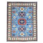 One-of-a-Kind Tillotson Hand-Knotted Sky Blue Area Rug