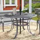 Van Glider Dining Table Color: Black Metal, Table Size: 48