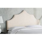 Sutcliffe Upholstered Panel Headboard Size: Full, Color: Talc