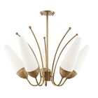 Despres 5-Light Shaded Chandelier Finish: Aged Brass
