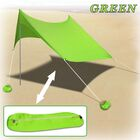 2 Person Beach Tent with Sand Anchor Portable Canopy Color: Green
