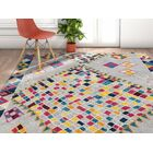 Angie Geo Shapes Gray Area Rug Rug Size: Rectangle 5'3