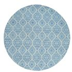 Flat Weave Reversible Kilim Hand-Knotted Sky Blue Area Rug