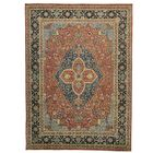 One-of-a-Kind Ruelas Vegetable Dyes Hand-Knotted Rust Red Area Rug