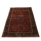 One-of-a-Kind New Zealand Sarouk Hand-Knotted Red Area Rug