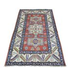 One-of-a-Kind Tillman Super Hand-Knotted Red/ Denim Blue Area Rug