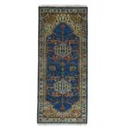 One-of-a-Kind Graver Hand-Knotted Denim Blue Area Rug