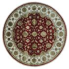 One-of-a-Kind Rajasthan Hand-Knotted Red Area Rug