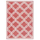 Kinney Reversible Red Indoor/Outdoor Area Rug Rug Size: Rectangle 7'10