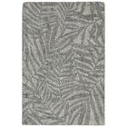 Claremont Olive Branches Hand-Tufted Wool Gray Area Rug Rug Size: Rectangle 7'6