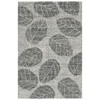 Claremont Leaf Hand-Tufted Wool Gray Area Rug Rug Size: Rectangle 5' x 7'6