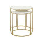 Flemingdon 2 Piece Nesting Tables Table Top Color: Cream