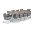 Maclin 11 Piece Dining Set with Cushions Cushion Color: Midnight Blue