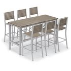 Maclin 7 Piece Bar Height Dining Set Color: Gray, Accessory Color: Tekwood Natural