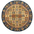 One-of-a-Kind Denver Hand-Knotted Wool Blue/Beige Area Rug