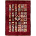 One-of-a-Kind Denver Hand-Knotted Wool Burgundy Area Rug