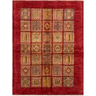 One-of-a-Kind Denver Hand-Knotted Wool Red/Beige Area Rug
