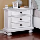 Hoch 3 Drawer Nightstand Color: White
