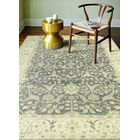 Crawley Hand-Knotted Wool Gray Area Rug Rug Size: Rectangle 9'9