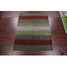 One-of-a-Kind Seidman Indian Oriental Hand-Knotted Wool Green/Gray Area Rug