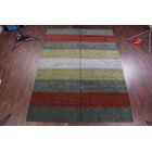 One-of-a-Kind Fortune Oriental Hand-Knotted Wool Gray/Yellow Area Rug