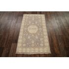One-of-a-Kind Bovill Peshawar Pakistan Oriental Hand-Knotted Wool Beige/Ivory Area Rug