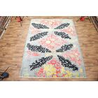 One-of-a-Kind Kelsi Pakistan Oriental Hand-Knotted Wool Gray Area Rug