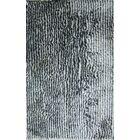 Kaylynn Shaggy Oriental Hand-Tufted Navy Blue Area Rug