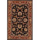 Encline Tabriz Agra Jaipur Oriental Hand-Tufted Wool Black Area Rug