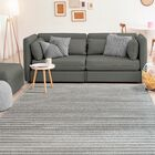 Ospina Accent Gray/Brown Area Rug Rug Size: Rectangle 5'3