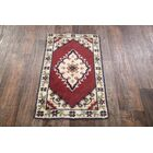 One-of-a-Kind Quintana Oriental Hand-Knotted Wool Red/Beige Area Rug